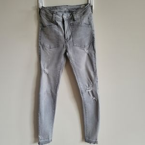 We The Free Ivy Mid Rise Skinny Jeans Grey S 25